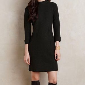 Sparrow sweater dress in dark olive brown color